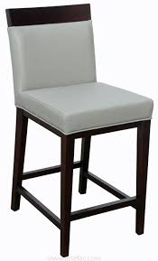 top grain leather counter stool in grey r 1013