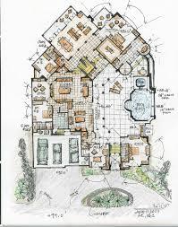 19 mediterranean floor plans with courtyard 20 opulent and
