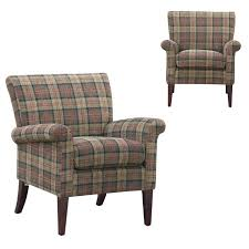 lovely plaid chairs living room