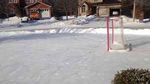 Backyard Rink Liner by How To Build An Outdoor Rink Without A Liner Youtube