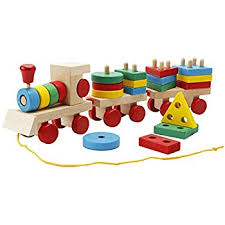 Make Your Own Wooden Toy Train by Amazon Com Melissa U0026 Doug Stacking Train Classic Wooden Toddler