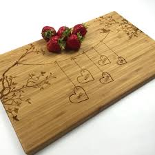 engraved cutting board wedding gift cutting board personalized wedding gift blended family names