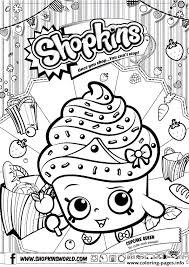 shopkins cupcake queen coloring pages printable