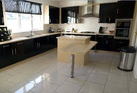 high gloss kitchen floor tiles black marble mosaic tile black