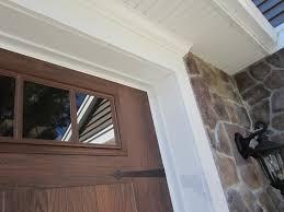 Pvc Exterior Door Trim by Garage Garage Door Moulding Home Garage Ideas