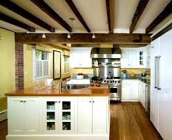 vaulted ceiling kitchen ideas bathroom surprising ecological residence montreal modern exposed