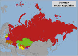 Blank Color World Map by Blank Color Map Of The Former Soviet Republics