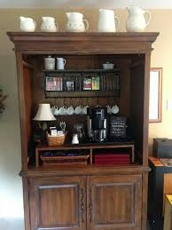 Media Center Armoire Entertainment Center Turned Coffee Bar Painted Furniture Idea