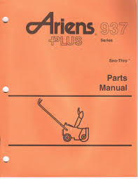 ariens snowblower manual on popscreen