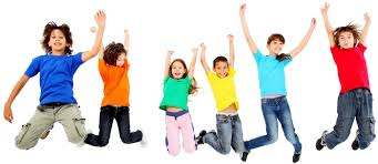 kid s jumping kids dressed colorful representing happiness and fun