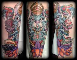 lucky 7 tattoo studio tattoos trevor wilson cat god