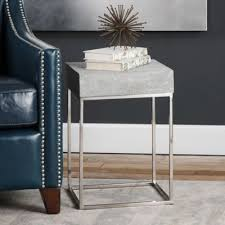 Stainless Steel Nightstand Buy Stainless Steel Table From Bed Bath U0026 Beyond
