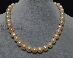 long silver pearl necklace images Pink pearl necklace etsy jpg