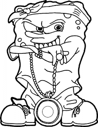 gangster spongebob coloring pages qlyview com