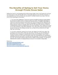 private house sales