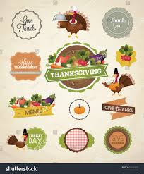 thanksgiving day harvest labels sts stock vector 161223275