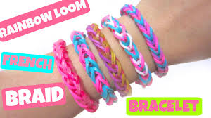 braided weave bracelet images Rainbow loom bracelet french braid without loom using 2 pencils jpg
