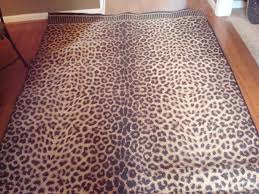 Leopard Runner Rug Home Decor Alluring Leopard Print Rug To Complete Chic Area Rugs