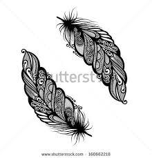 vector peerless decorative feather tribal design stock vector