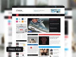 ipress free psd magazine u0026 blog template by codevz dribbble