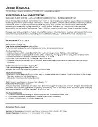 underwriting resume objective sample insurance underwriter resume