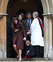 george michael s father prince george and princess charlotte join their parents for church