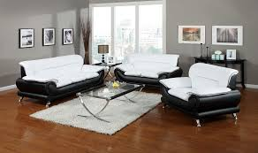 Black And White Sofa Set Designs Acme 50455 Orel Black And White Or Red Sofa And Loveseat