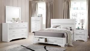 coaster bedroom set coaster miranda storage platform bedroom set white 205111 bedroom
