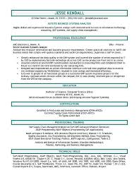 Resumes Com Samples by Systems Analyst Resume Example