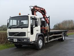 volvo truck fl volvo fl 220 4 x 2 flat with atlas crane