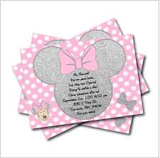 minnie mouse baby shower invitations 20 pcs lot minnie mouse silver glitter party invitations