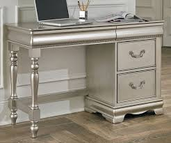Student Writing Desk by Jessica Collection Desk Silver Finish 93599 Girls Desk