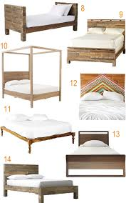 Reclaimed Platform Bed - get the look 20 rustic reclaimed wood beds stylecarrot