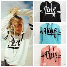 2017 women pink letter hoodie vs pink pullover tops vs brand shirt