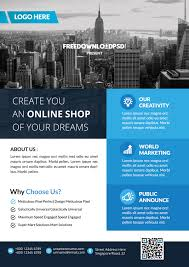 Real Estate Brochure Template by Real Estate Flyer Template Free Psd Download Creative Genie