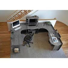 Bamboo Desks Gray Bamboo Desks Home Office Furniture The Home Depot