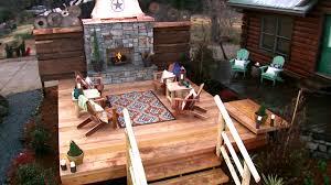 rustic log cabin backyard video diy