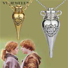 bottle necklace aliexpress images For harry potter ron and hermione felix felicis potion bottle jpg