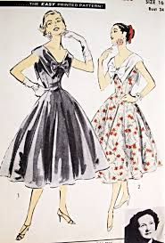 dress pattern fit and flare lovely party evening cocktail dress pattern advance american