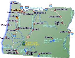oregon map go northwest a travel guide