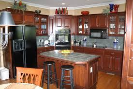 Mahogany Wood Kitchen Cabinets Cherry Wood Kitchen Cabinets With Glass Doors Tehranway Decoration
