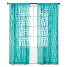 Turquoise Sheer Curtains Turquoise Crochet Curtain Panel Everything Turquoise