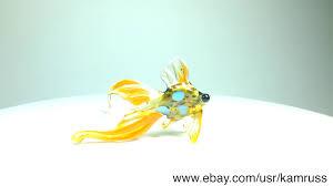 goldfish telescope glass figurine murano miniature dollhouse