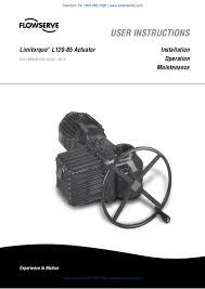 flowserve limitorque l120 85 electric actuator iom