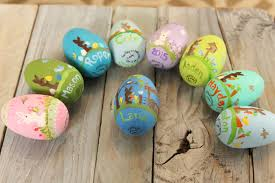 wooden easter eggs painted wooden easter eggs coffey creations