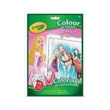 crayola disney princess colour u0026 sticker colouring pads u0026 easels
