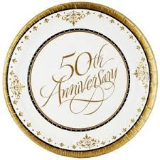 50th anniversary plates 50th anniversary small plates we like to party