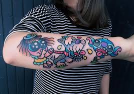hand tatto for men tattoo stitch lilo and stitch colour arm tattoo tattoo for men