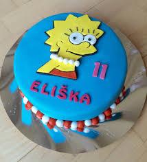 lisa simpson cake cakes eva lisa simpson cake