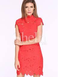 red cap sleeve crochet lace zipper dress crochet lace cap and 21st